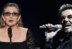 Carrie Fisher (left) and George Michael