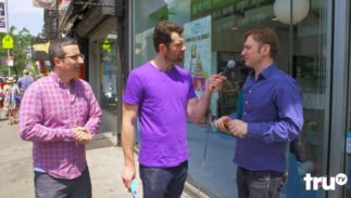 John Oliver and Billy Eichner talk to people on the street