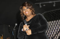 FILE - In this Feb. 7, 2013 file photo, Kim Burrell performs during For the Love of R&B - A Tribute to Whitney Houston at Tru Hollywood, in Los Angeles. The performing rights organization BMI is the latest group to distance itself from gospel singer Burrell after video surfaced of her referring to gays and lesbians as perverted. A statement from BMI released on Friday, Jan. 6, 2017, said Burrell will no longer be honored and she was asked not to attend their annual BMI Trailblazers of Gospel Music event scheduled for Jan. 14, in Atlanta, Georgia.