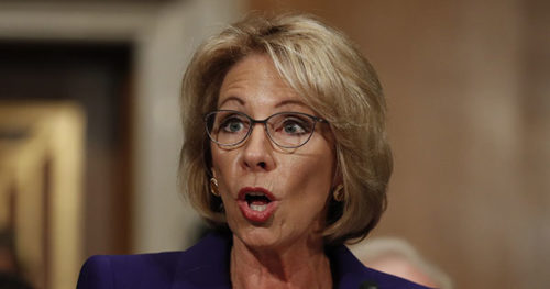 Senate moves toward confirmation of billionaire opponent of public schools