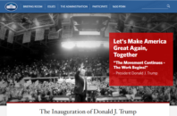 Landing page of WhiteHouse.gov.