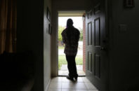 FILE - In this Monday, Dec. 5, 2016 file photo, a 19-year-old transgender teen, who declined to be identified because she feared for her life after receiving death threats earlier in the year at a halfway house, poses for a photo in Texas. Advocates say the nation's juvenile detention centers are largely ill-equipped to house transgender young people, leaving them vulnerable to bullying, sexual assault, depression and suicide.