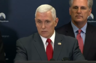 Vice President-elect Mike Pence speaking at a press conference on Jan. 4, 2017.