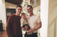 Robbie Rogers and Greg Berlanti with their son, Caleb.