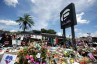Pulse nightclub in Orlando, Florida on the one month anniversary of the shooting.