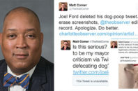 Joel Ford dog pooping tweet