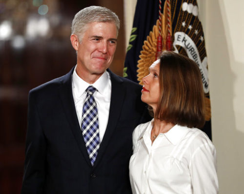 Judge Neil Gorsuch sworn into Supreme Court, vows to serve Constitution