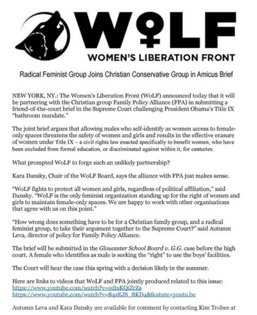 Fake 'radical feminist' group a paid political front for