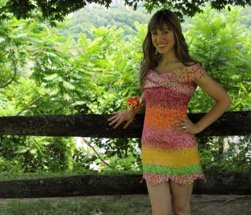 Pennsylvania woman makes dress from Starburst candy wrappers