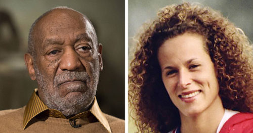 3 white men, 2 white woman seated for Cosby jury