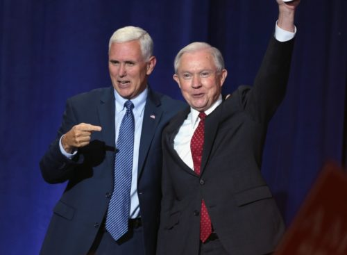 Mike Pence and Jeff Sessions Wikimedia Commons