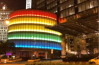 Trump International Hotel Chicago rainbow