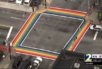 Atlanta rainbow crosswalk
