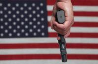 gun american flag