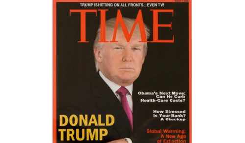 March 2009 Time cover of Trump is phony