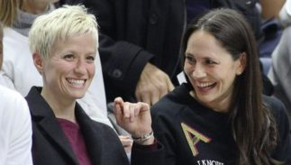 Sue Bird (right) Megan Rapinoe (left)