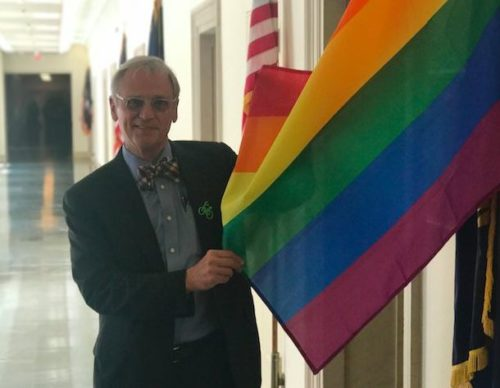 Rep. Susan Davis sued for displaying rainbow flag outside her office