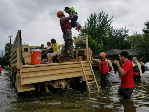 Cloud National Guard Soldiers, Helicopters to Help Hurricane Harvey Victims