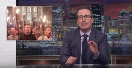 John Oliver unloads on Trump for failing to condemn Nazis