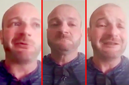 White Supremacist Cries After Realizing He Could Be Arrested