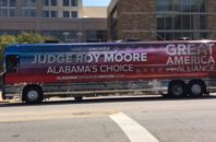 Roy Moore bus typo
