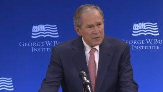 george w bush trump bigotry