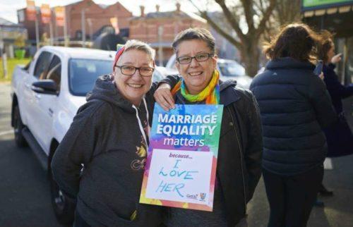 lesbian couple australia