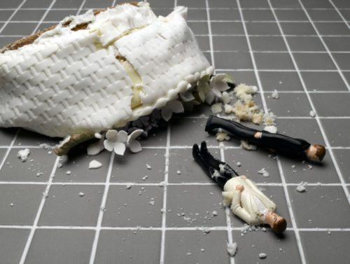 gay divorce wedding cake