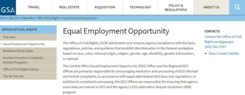 general services administration equal employment opportunity
