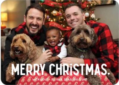 рождественские семейные открытки LGBTQ