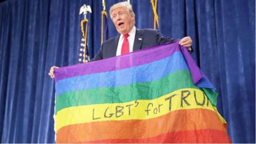 trump pride flag