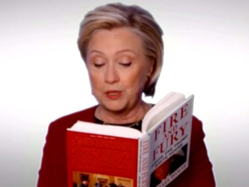 Hillary Clinton's Fire And Fury skit at Grammys