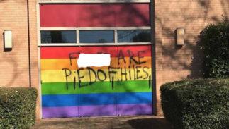 antigay vandalism church
