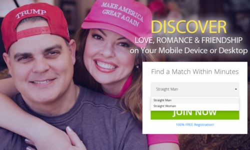 Trump dating site allows married users but not gay people