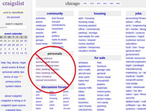 Craigslist shuts down personals section after anti-sex trafficking bill passed