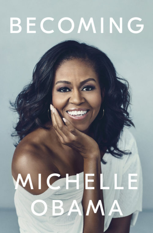 Cover of Michelle Obama's new book, Becoming.