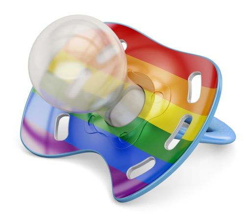 gay baby pacifier