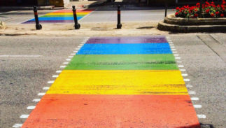 "A rainbow crossing has replaced the traditional ""zebra stripes"" in Malta."