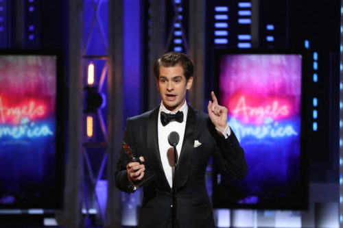 Andrew Garfield dedicates Tony Award to LGBT community