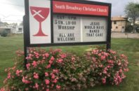 "A church sign reading ""Jesus would have baked that cake."""