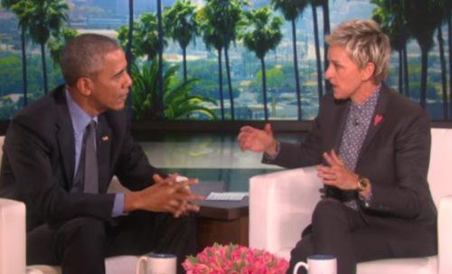 Barack Obama and Ellen