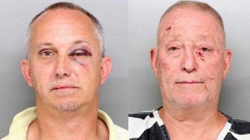 Mugshots of Elmwood Place mayor Bill Wilson and his husband, Bill Smith.