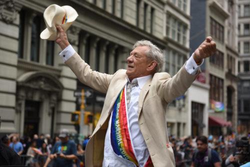 New York pride parade Grand marshal Ian McKellen