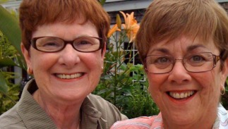 Mary Walsh and Bev Nance at their 2009 wedding in Provincetown, Massachusetts.