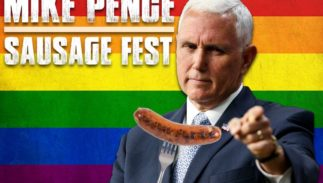 "Kansas City's 96.5 The Buzz radio station is hosting a big gay ""sausage fest"" when Vice President Mike Pence arrives in the city."