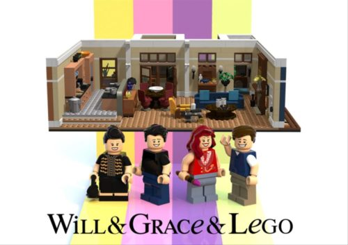 This Will & Grace Lego set could soon be available nationwide.