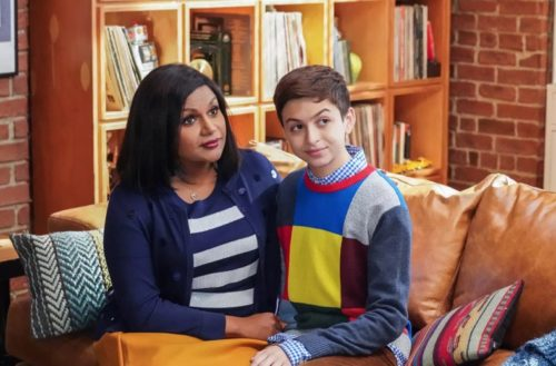 "Mindy Kaling and Josie Totah on ""Champions."" Totah asked that photos of her for stories about her coming out use production photos rather than focusing on her looks currently."