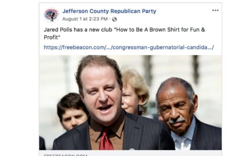 Facebook post from Jefferson County Republicans