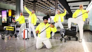 British Airways baggage handlers do their best Freddie Mercury impression to honor his birthday.