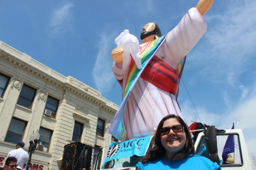 "A ""gay Jesus"" balloon will greet hate preacher Rev Franklin Graham when he visits Blackpool England."